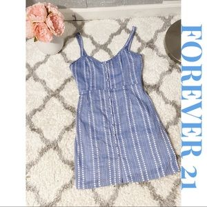 FOREVER 21 Button Up Mini Dress
